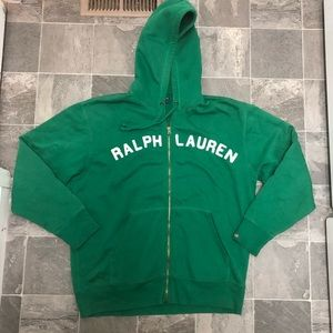 Men's Ralph Lauren polo jean big logo hoodie sz L